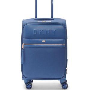 DKNY Trademark Vegan Leather Trim Carry On Luggage